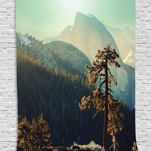 Tapestry Mountain Woodlands Wall Hanging Backdrop